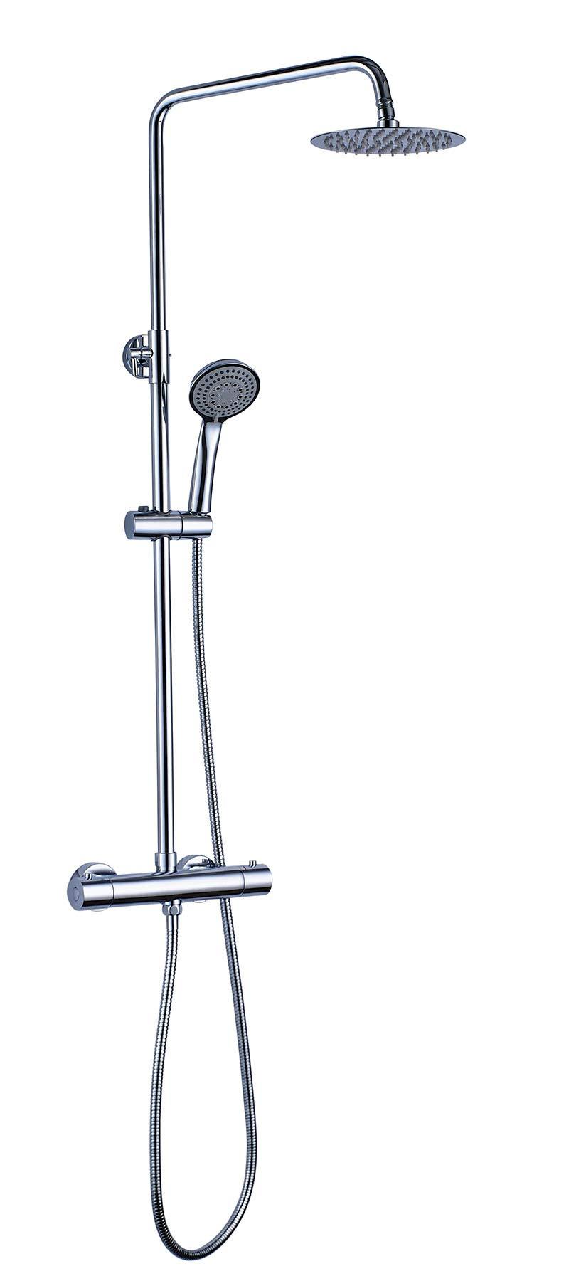 OXEN 121574 – Columna de ducha redonda con termostática (extra larga)