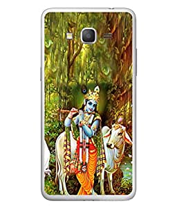 PrintVisa Designer Back Case Cover for Samsung Galaxy Grand Max G720 (Kanha In Jungle With His Cows)