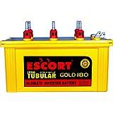 ESCORT Inva Tubular Extra Hi back up Gold Inverter Battery 24 Months Warranty (180AH_Yellow_ES002)