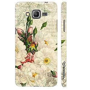 Enthopia Designer Hardshell Case White Flower Touch Back Cover for Samsung Galaxy J3