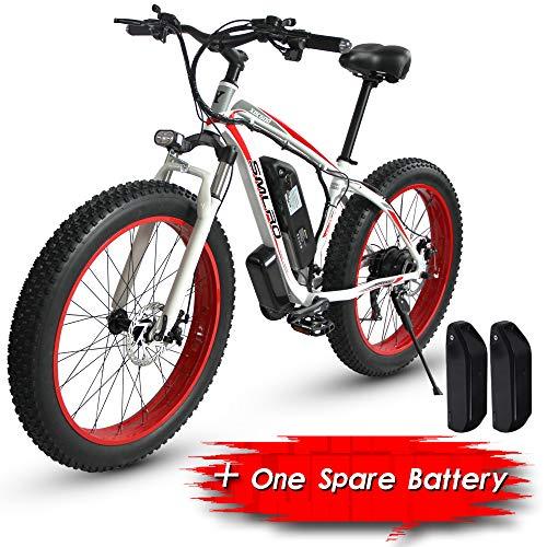 XXCY S02, Bicicleta Eléctrica, Bicicleta De Montaña Eléctrica De 26 '', 1000w 15ah, Dos Baterías