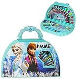 Unbekannt 51 TLG. Set __ Stifte-Koffer -  Disney Frozen - die Eiskönigin  - incl. Name - Malkoffer mit Stiften + Filzstifte + Buntstifte + Wasser Farben + Wachsmal FA..