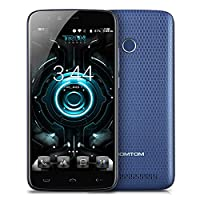 Unlocked 4G Smartphone HOMTOM HT50 with Android 7.0 5.5 Inch Screen, MTK6737 Quad Core 1.3GHz, 3GB RAM+32GB ROM, 13MP+13MP Dual Cameras Dual Sim, Fingerprint Recognition, 5500mAh Super Battery, Fast Charge LED Notification, SIM Free Mobile Phones - Blue