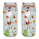 WRWYOSF Weihnachtsdruck 3D Socken Unisex Cartoon StrüMpfe Lustige Weihnachten SöCkchen Amazing Neuheit Weihnachtssocken Christmas Socks Weihnachtsmotiv Festlicher Mix FüR Damen Und Herren
