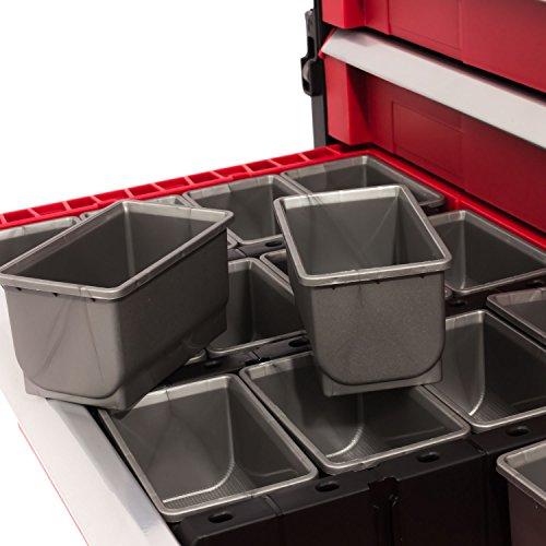 Keter 5 Drawer Tool Chest Set Acetal Slides, 1 Stück, schwarz / rot / silber, 17199301 - 9