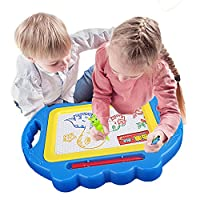 Hotsellhome 2018 New Baby Kids Doodling Toy Erasable Magnetic Writing Painting Drawing Board + Pen Preschool Learning Tool Educational Toy Wisdom Development Puzzle Toy Child Gift (Blue)