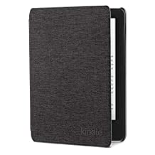 Kindle Oasis Water-Safe Fabric Cover - Charcoal Black , 9th Generation