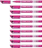 Stylo feutre - STABILO SENSOR M - Lot de 10 stylos-feutres pointe moyenne - Rose