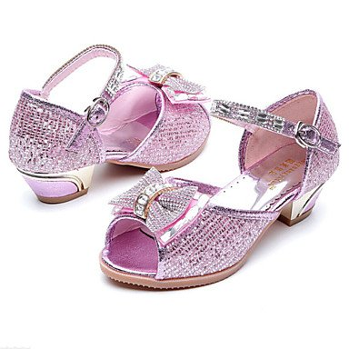 LIDOG Habillé Décontracté-Violet Or-Gros Talon-Light Up Chaussures-Chaussures à Talons-Synthétique Gold