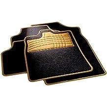 carfashion 254581universal pie   Juego de alfombrillas para escalón Protección y costuras en orange  sin soporte, Auto Esterilla apta para muchos tipos Auto