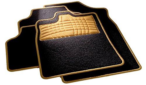 Preisvergleich Produktbild CarFashion 254581 Universal Fussmatten Set | Trittschutz und Kettelung in Orange| Ohne Mattenhalter, Automatte Passend für Viele Auto Typen