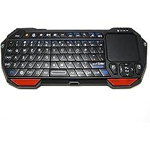 BT05Bluetooth Mini tastiera Wireless con Touchpad e puntatore laser in scatola da wfcsu
