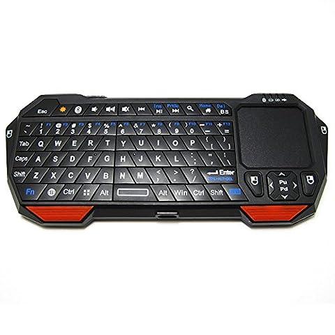 BT05Mini Bluetooth sans fil clavier avec pavé tactile et Pointeur Laser en boîte par wfcsu