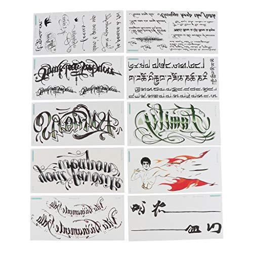 emporäre Tattoos Aufkleber für Männer und Frauen ()