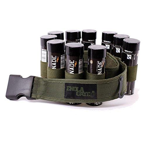 Enolagaye Hang Ten Belt - Gürtel für 10 Rauchgranaten - Braun