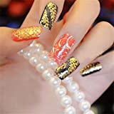 Sliver : LKE 108pcs 3D Gold Flowers Nail Art Stickers Decals For Nail Tips Decorations(Sliver)