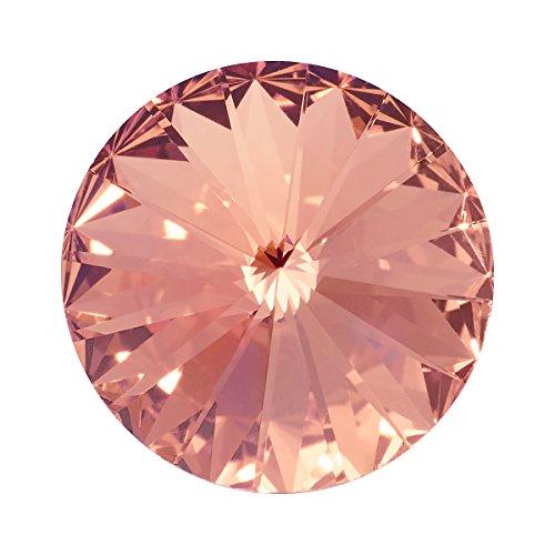 Swarovski Wechselstein für Schmuck 1122 Rivoli Stein Kristall foliert 10mm crystal vintage (Schmuck Crystal Vintage)