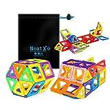 NextX Magnetische Bausteine Magnetspiel Set Pädagogische Bauklötze Spielzeug Geschenk für Kinder (56-Stück)