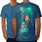 wellcoda Flamingo Vogel Brief Männer XL Ringer T-Shirt