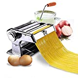 P YU Stainless Steel 3 in 1 Pasta Maker Noodles Cutter Roller Machine