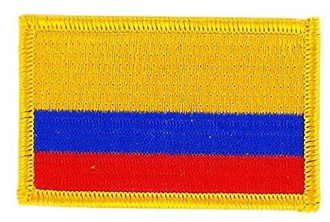 Patch écusson brodé drapeau colombie colombien thermocollant insigne backpack
