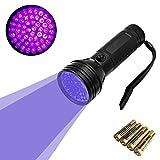 UV Lampara 51 LED linterna de luz negra para mascotas UV Detector de manchas de orina de perro / gato eliminador de manchas, manchas secas Encuentra en alfombras, moquetas, Piso. 3 pilas AA Incluido