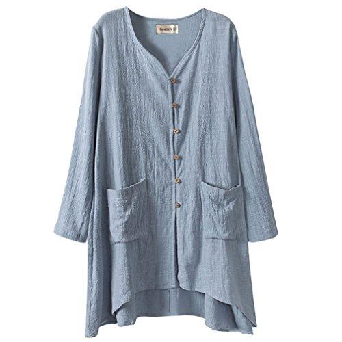 gordon-q-womens-linen-comfort-buttons-up-plus-size-long-shirts-blue-uk-18