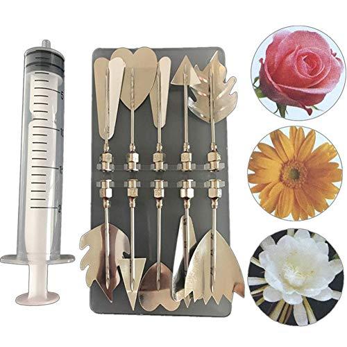3D Gelatine Gelee Blume Art Tools Edelstahl Düse Spritze Kit Pudding Düse Kuchen Dekorieren Tool 10 stücke Blumen-gelee