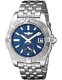 Breitling Galactic 36Damen Automatik Uhr mit Blau Zifferblatt Analog-Anzeige und Silber Edelstahl Armband A3733012/C824/376A