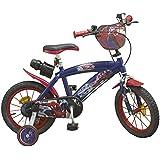 Toims bicicleta para niños, diseño de Spiderman, tamaño 14 pulgadas