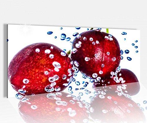 Acrylglasbild 100x40cm Kirsche Kirschen Beere Obst Früchte Küche Acrylbild Glasbild Acrylglas Acrylglasbilder 14A1412, Acrylglas Größe1:100cmx40cm