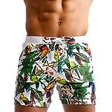 Taddle - bañador largo para hombre, estilo bermuda, con estampado de flores, para natación y surf - Small