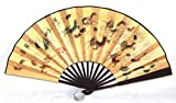 AAF Nommel ® Echter chinesischer Hand- Deko Fächer aus Seidenkarton Motiv Drachen, Nr. 028