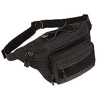 Huntvp Tactical Wasit Pack Bumbag Military Molle Waterproof Bum Bag Fanny Pack for Running Trekking Hiking Black