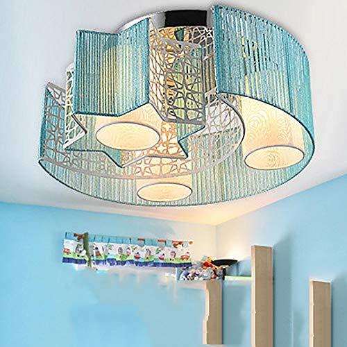 GWFVA Blinkende LED Schlafzimmer Lichter romantischen minimalistischen Mond und die Sterne Beleuchtung Kinder Moderne Decke Wohnzimmer Beleuchtung (Farbe: blau) - Blaue Decken-beleuchtung