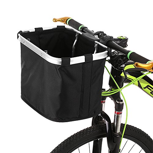 Lixada cestino per bicicletta pieghevole removibile cesto manubrio bici borsa per animali domestici telaio in alluminio maniglie superiori