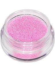 Poudre paillettes scintillantes ROSE PINK trendy Nail Art, déco d'ongles, maquillage de la Peau