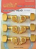Alice 42601808846616Mécaniques pour guitare électrique Or (3LI/3re) Guitar Tuner
