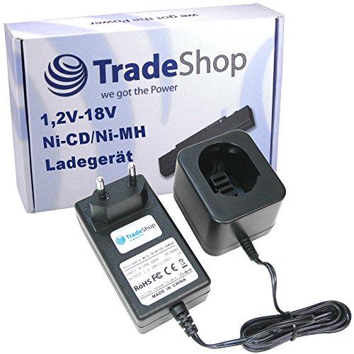 Trade-Shop Universal Akku Ladegerät (1,2V-18V Ni-MH Ni-Cd) Ladestation Schnellladegerät für DEWALT DW996KQ CD18C CD18CA CD18CAB CD18CBK CD18CE CD180GK2 CD180K2 DC330 DC330K DC330KA DC330KB DC330N DC380KA - Dewalt 18v Akku-ladegerät