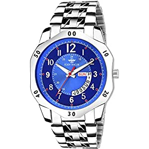 Eddy Hager Blue Day and Date Men's Watch EH-240-BL