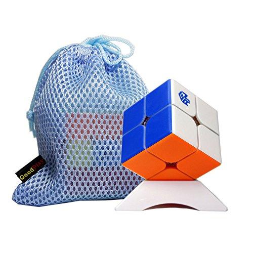 Ganspuzzle Gan 249 V2 Magnetische 2x2x2 Geschwindigkeit Magic Cube Brain Teaser Twist Puzzle mit Einem Cube Bag und Einem Cube Tripod (Stickerless) ()