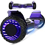 Hoverboard,Skateboard 6,5 Pollici SUV off-Road Scooter Elettrico e di Equilibrio e di Skateboard EL-ES06