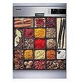 Sticker Cuisine Lave Vaisselle Epices 60x60cm SLV1087 (Fond Transparent)