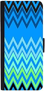 Snoogg Blue Shades Pattern 2574 Designer Protective Phone Flip Case Cover For Samsung Galaxy Grand Neo