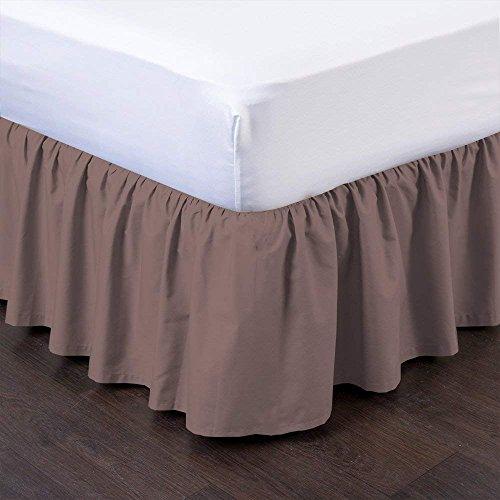 Queen-size-plattform Bett (Rajlinen Gerüschte Bett Rock (Olympischen Queen, Camel) 35,6cm Drop Staub Rüsche mit Plattform, Falten und farbbeständig (erhältlich in Alle Bett Größen und 16Farben))