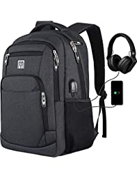 Laptop Backpack, School Bag with USB Charging Port, Business Travel Anti Theft Durable Laptop Bag,Water Resistant, Backpack Fits 15.6 Inch Laptop and Notebook ¡