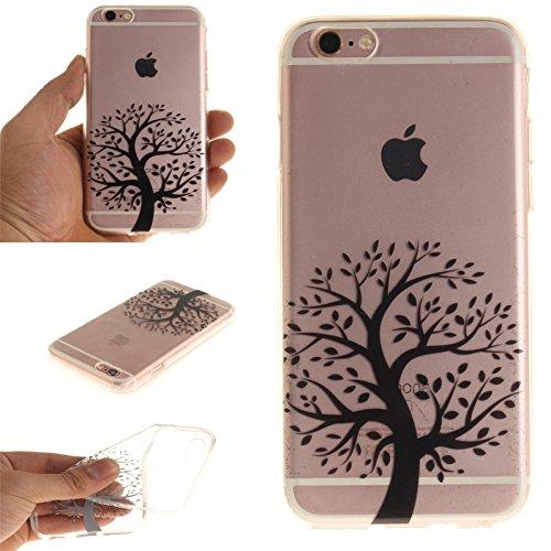 Voguecase® für Apple iPhone 7 Plus 5.5 hülle, Schutzhülle / Case / Cover / Hülle / TPU Gel Skin (Pflaumen 16) + Gratis Universal Eingabestift Schwarzer Baum 01