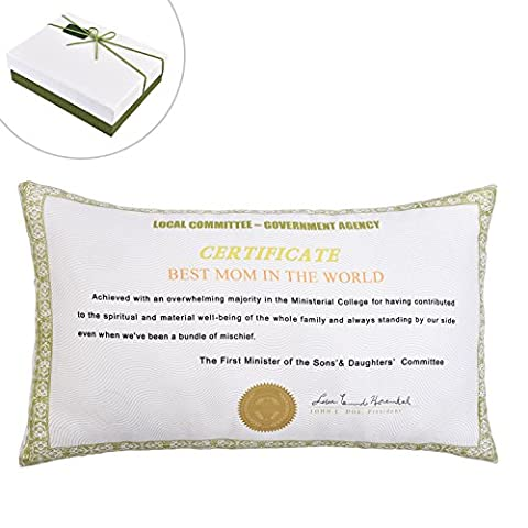 Best Mom in The World Certificate - Pillowcase, Mother's Day