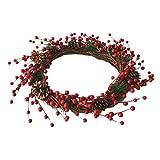 Deko Weihnachten Kranz Türdekoration Zum Aufhängen, Rot Beeren-Kranz Weihnachtsbaum Deko, Perfekte Für Party Wohnzimmer Fenster Mall Hotel Von 332PageAnn