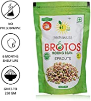 BROTOS Instant Moong Bean Sprouts (Gives 250 GM) - Masala Sachet Inside